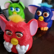 Furby Mcdonalds Happy Meal Toys Vintage 1998 7pc Lot Rolling Ear Wagging Plastic