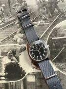 Cwc Cabot Watch Company W10 1979 British Army Military Issued Mechanical Watch