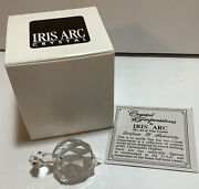 Iris Arc Crystal Turtle Very Small Figurine Collectible