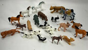 Vintage Toy Animal Figures Horses Dogs Zoo Farm Junk Drawer Lot Hong Kong Jd2