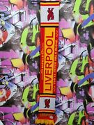 Liverpool Fc England The Reds 90s Football Soccer Vintage Scarf Length 133 Cm