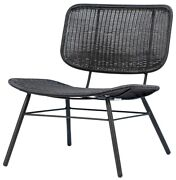 25 W Indoor/outdoor Occasional Chair Black Powder Coated Metal Poly Rope