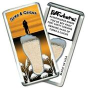 Turks And Caicos Footwhere® Souvenir Magnet. Pieces/6 Assorted Styles.