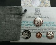 1974 British Virgin Islands Native Birds Proof 4 Coin Set And Coa In Money Pouch