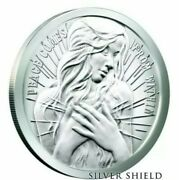 1 Oz .999 Pure Silver Shield Proof Peace Comes From Within Round Coin Wastweet