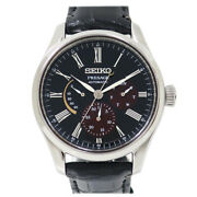 Seiko Presage Lacquer Sandalwood Limited Ref. Sarw045 Black Automatic Watch Auth