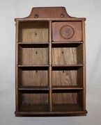 Antique 6 Drawer Spice Cabinet/cupboard/apothencary W/one Drawer