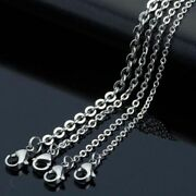 Silver Color Stainless Steel Cross Chain Men Necklace Finding Pendant 100/pcs