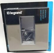 Legrand Adorne 362866 Satin Nickel Double 2-gang Wall Plate Switch Outlet Cover