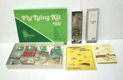 Fly Tying Kit 151 W/ Practical Flies And American Fly Tying Manuals Vtg Fishing