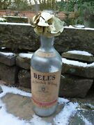 Vintage Embossed 8 Pint Bells Whisky Bottle With Collection Of Neck Tags