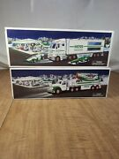 2002 Hess Toy Truck And Airplane 2003 Hess Toy Truck And Race Cars Nib