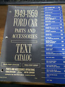1949-1959 Ford Car Parts And Accessories Text Catalog