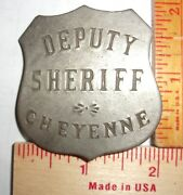 Vintage Sheriff Cheyenne Badge Collectible Old West Cowboy Southwestern Pin