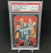 Psa 6 The Wizard Of Oz 1940 Castell Bros Header Card Rookie Dorothy Tinman Lion