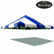 20x20and039 Premium Pole Tent Canopy 16 Oz Vinyl Blue-white Replacement Block-out Top
