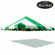 20x20 Premium Pole Tent Canopy Green-white Replacement Block-out 16 Oz Vinyl Top
