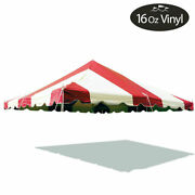 20x20and039 Premium Pole Tent Canopy 16 Oz Vinyl Red-white Replacement Block-out Top