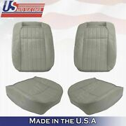 1994 1995 1996 Chevy Impala Ss Front Leather Seat Cover Gray Four Pieces