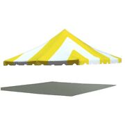 20x20 Premium Pole Tent Canopy Yellow-white Replacement Block-out 16oz Vinyl Top