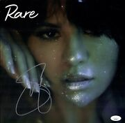 Selena Gomez Signed Rare Sexy 12x12 Limited Color Lithograph With Vinyl Jsa Coa