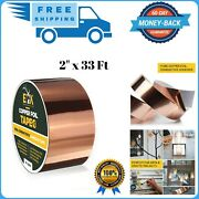 Copper Foil Tape With Conductive Adhesive For Guitar And Emi Shielding 2 X 33and039
