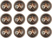 Urbalabs Western Style Concho Star Kitchen Cabinet Drawer Knobs And Pulls 12 Pk