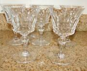 Baccarat Tall Water Goblets Glasses In Buckingham Pattern - Set Of 5 - 6.5-mint