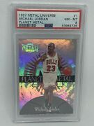 1997-98 Metal Universe Planet Metal Michael Jordan Chicago Bulls Psa 8