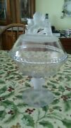 Eapg Lion Head Compote Very Beautiful Gillinder Circulate 1877