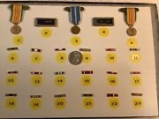 23 Different Us Military Miniature Medals, Service Ribbons, Lapel Pins 1918-1981