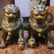 Lions Statue Brass Leo Luck Prosperous Power Protection Rare Limited Antiques