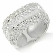 Hsn Victoria Wieck Sterling Silver Absolute Cubic Zirconia Band Ring Sz 7