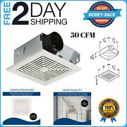Bathroom Ceiling Ventilation Fan Air Vent Wall Mount Exhaust Toilet Bath White