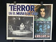1974terror In The Wax Museumray Millandhorror Auth Mexican Lobby Card16x12