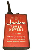 Vintage 1950and039s Red Jacobsen Power Mowers Fuel Mixture Gasoline U.s. Gallon Can