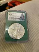 2016 American Eagle One Dollar Silver Coin Ngc Ms70 30th Anniversary Green Slab