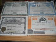 Set Of 4 Vintage Stock Cert. 1959 Thru 75 Ready To Frame And Display. Oil Stock