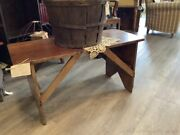 Antique Primitive Bench Coffee Table Solid Wood Farm House Design 38.75 Width