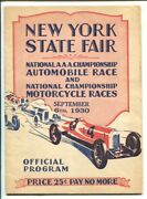 New York State Fair Speedway Aaa Indy Car And Motorcycle Race Program 9/6/1930-...
