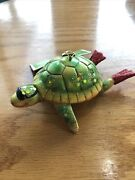 New Glass Turtle Swimmer Diver Christmas Tree Ornament 2008 Target