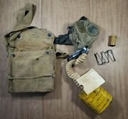 Vintage Original British Wwi Ww1 Gas Respirator Mask W/ Canister And Haversack Lot