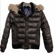 American Eagle Outfitters Duck Feathers Puff Jacket,black,size S