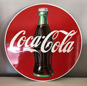 Coca Cola Enameled Porcelain Advertising Sign. Ande Rooney. 11 1/4andrdquo