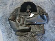 Luxury Designer Leather Flying Aviator Biker Jacket By Coach New York Rrp Andpound1950