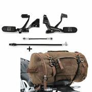 Forward Control Kit Pour Harley Sportster 14-20 + Sac Andagrave Dos Queue Vintage Toile