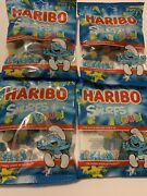 Haribo Smurfs Sour Gummy Candy Lot Of 4