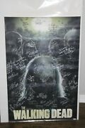 The Walking Dead - Poster With Over 30 Cast And Crew Autographs - Jsa Full Loa
