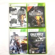 Battlefield 3 And 4 - Bad Company 2 - Call Of Duty Ghosts - Xbox 360 Shooter Lot