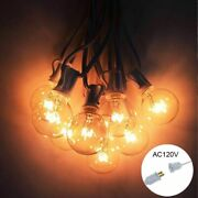 Patio Lights G40 Globe Party Christmas String Light Warm White 25clear Vintage